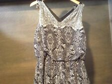 Womens Perceptions New York SIZE 14 Dress Black WHITE PAISLEY DRESS NEW NWT $70