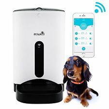 Auto Dog Cat Feeder Food Dispenser Dogs Cats Controlled by Smart Phone with Wifi