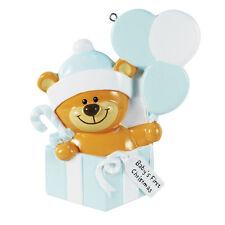 Teddy Bear Present Boy Baby's First Christmas Ornament Gift Decoration Q61359