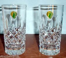 Waterford Lismore Highball Pair Crystal Glasses 12 oz #5503182120 New In Box