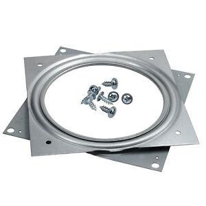 "Sq 6"" Steel Lazy Susan Swivel Turntable Plate W/ Ball Bearings 500Lbs Capacity"