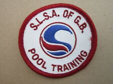 Pool Training SLSA Surf Life Saving Swimming Sport Cloth Patch Badge (L3K)