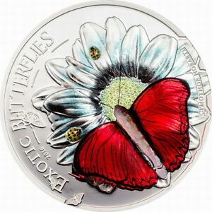 Tanzania 2016 Butterflies 3D 1000 Shillings Silver Coin,Proof