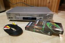Sony SLV-N81 VHS VCR Player 19 Micron Head with Cable, Blank Tapes - Works Good