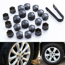 20Pcs Black Wheel Nut Caps Bolt Covers Audi VW Vauxhall Bmw Mercedes 17mm