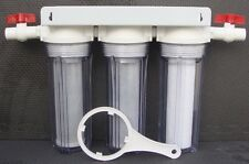 """10"""" Whole House all  Clear 3 stage filtration water system 3/4"""" port / thread"""