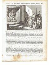 """1825 Vita Santi: Santa Felicita di Roma e i suoi sette figli """"Sainte Felicite"""""""