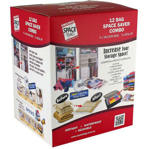 Space Bag 12 Piece Combo Pack Bulk Pack including Travel Bags USB68412