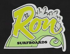 RON SURFBOARDS Sticker Decal Surfboard 1960's RETRO VINTAGE LONGBOARD SURFER !!