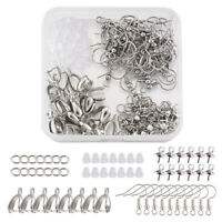 194pcs Pendant Clasp Earring Hook Making Kit with Ice Pick Pinch Bails Findings