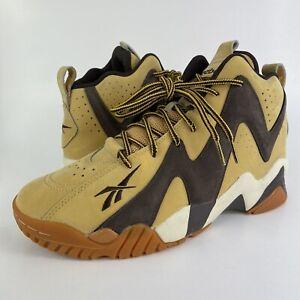 Reebok Kamikaze II Mid Basketball Shoes Wheat Brown V72799 Men's Size 8