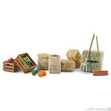 Futterset Schleich 42105 New Feed Set Hay Straw Carrots Apple Hay Fork Broom