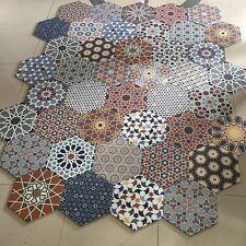 Istanbal Hexagon Multi Colour Patchwork Victorian Porcelain WALL & FLOOR TILES