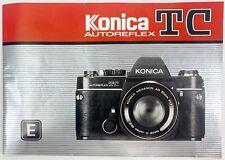 Konica Autoreflex Tc Instruction Manual 1980's