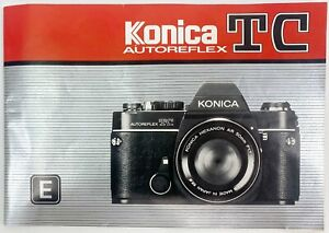 Konica Autoreflex TC Instruction Manual 1980's