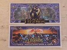LEAGUE of LEGENDS Fantasy Super Heroes <> $1,000,000 One Million Dollar Bill USA