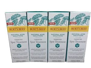4 Burt's Bees Natural Acne Solutions Targeted Spot Treatment - 0.26 Fl Oz - NEW!