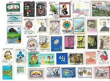 COLOMBIA - Selection of Stamps on Paper from Kiloware - see description