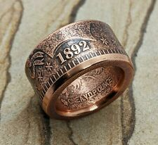 Copper Coin Ring -1892 Barber Half Dollar Made from 1 AVDP ounce copper coin