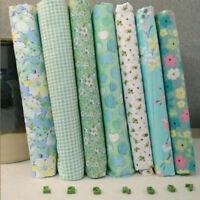 New Series 7pcs Assorted Pre-Cut Fat Quarters Bundle Charm Cotton Quilt Fabric
