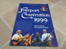 FAIRPORT CONVENTION 1999 souvenir tour programme / program