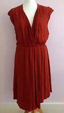 Femme Anthropologie Cayenne couleur viscose mélangé robe taille M