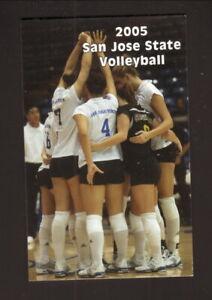 San Jose State Spartans--2005 Volleyball Pocket Schedule
