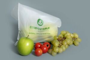 Biodegradable Compostable Food Saver Storage Bag's H=30 x W=25cm Heat Seal