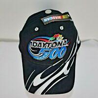 Daytona 500 2002 Nascar Strapback Baseball Hat Cap Adjustable New NWT Black CFS