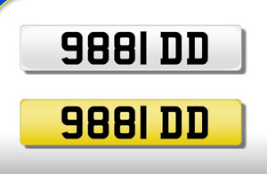 9881 DD CHERISHED NUMBER PERSONAL PLATE