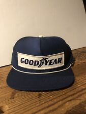 Vintage Goodyear  1 In Racing Embroidered Patch White Rope Snapback Hat Cap  NWOT e2176370a0e2