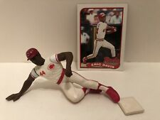 1989 Starting lineup Eric Davis figure Toy W/ 1989 Topps Card Cincinnati Reds OF