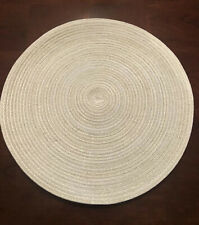 "Set Of 4 ""Mainstays"" Gold Ombre 15"" Diameter Round Woven Placemats"