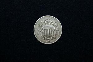 UNITED STATES 1868 NICKEL 5 CENT PIECE GOOD GRADE