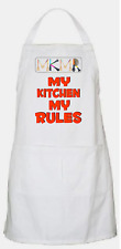 APRON (Bib Style) Kitchen/ BBQ with pocket. Featuring My Kitchen My Rules