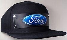 Hat Cap Front Nylon Strap Ford Oval Black FEV