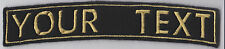 LARGE 1 LINE ROCKER PERSONALISED BIKE PATCH CLUB TRIKE SEW ON BUY 5 PAY FOR 4!!