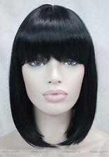 2 color BOB Short Straight bangs Women Female Lady Hair Full Wig Perruque E-9606
