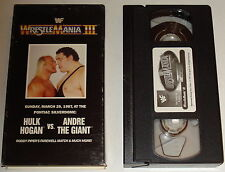 wwe WRESTLEMANIA 3: The Collection ~ WWF Home Video WRESTLEMANIA III vhs in box