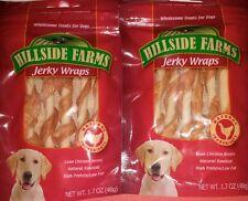 HILLSIDE FARMS JERKY WRAPS NATURAL CHICKEN DOG TREATS 2 PACKS