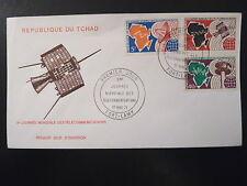 TCHAD 235/37   PREMIER JOUR    TELECOMMUNICATIONS, SATELLITE    5+50+40F    1971
