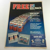 VTG Retro 1985 Pepsi-Cola FREE Six-Pack Products Coupon By Mail Print Ad Coupons