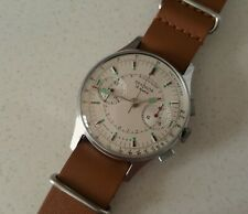 Men's Vintage Manual Winding Seiko Strela 3017 Chronograph