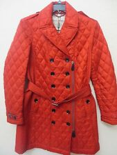 NEW  BURBERRY BRIT Women PARADE RED Quilted COAT Size XL MSPR $795.00