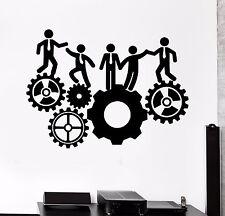 Vinyl Wall Decal Office Team Work Gears Inspiration Stickers Mural (396ig)