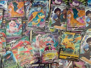 50 Pokemon Karten, Booster, mit Holos und GX/V/VMax GARANTIERT! Pokemon Sammlung