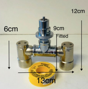 Single to Dual Gas Bayonet Double Adapter (Disassembled)