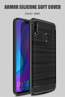 Slim Tough Bumper Rugged Armor Case Cover For Huawei P Smart 2019 - Matte Black