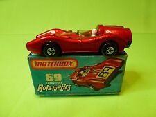 MATCHBOX 69 ROLA-MATICS TURBO FURY RACE CAR No 69 - RED - NEAR MINT IN BOX