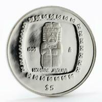 Mexico 5 pesos Statue Hombae Jaguar proof silver coin 1996